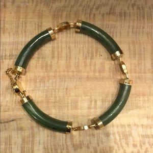 Vintage Jewelry - Vintage jade lucky bracelet